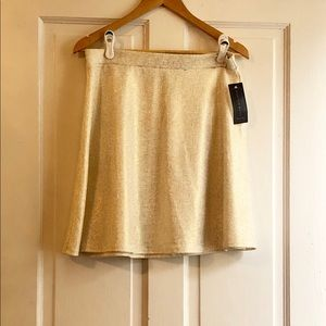 🏷SALE🟣Ashley Blue Metallic Thread A Line Skirt.
